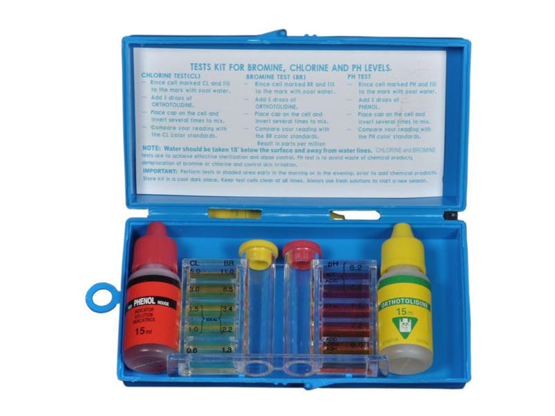 1/2 oz Box set test kit for chlorine and Ph